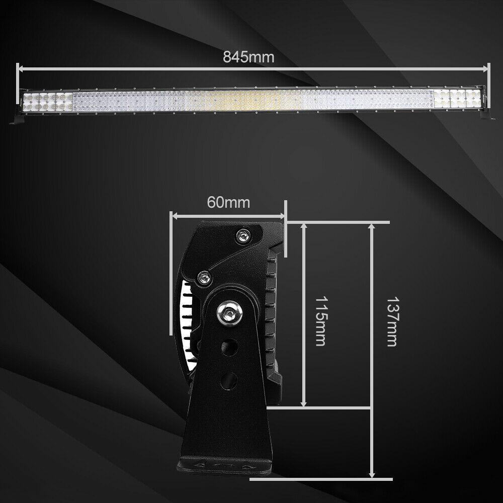 "32Inch 4080W Quad-row LED Work Light Bar Flood Spot OffRoad Driving PK 30/32""36"" 9"