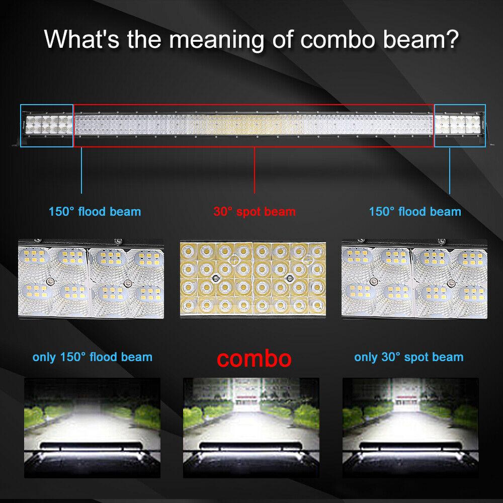 "32Inch 4080W Quad-row LED Work Light Bar Flood Spot OffRoad Driving PK 30/32""36"" 8"