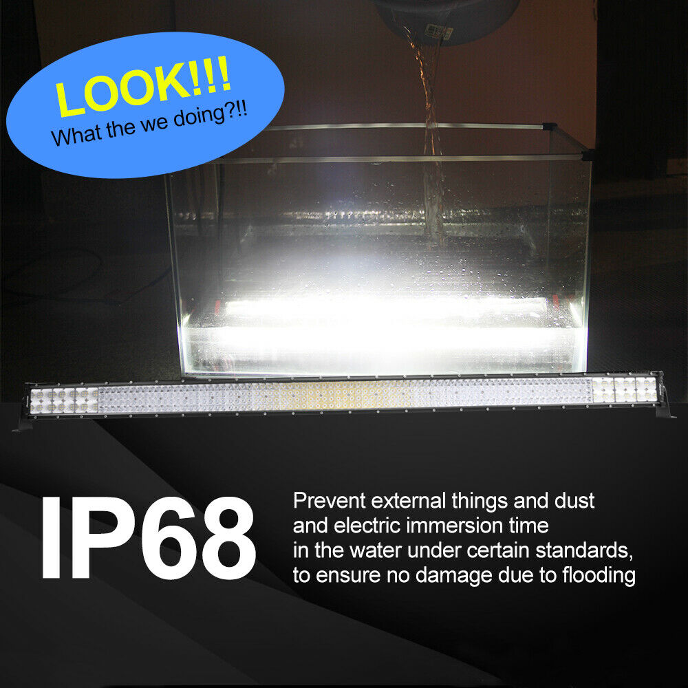 "32Inch 4080W Quad-row LED Work Light Bar Flood Spot OffRoad Driving PK 30/32""36"" 4"