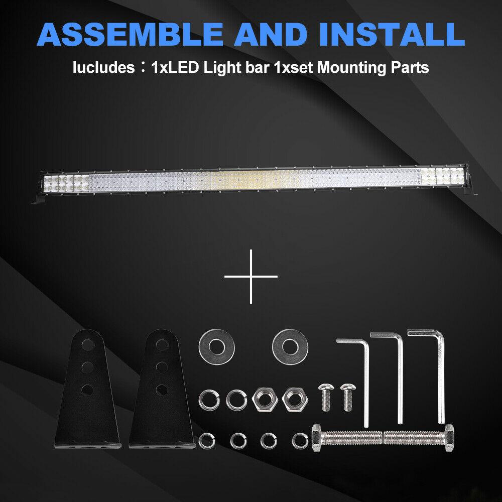 "32Inch 4080W Quad-row LED Work Light Bar Flood Spot OffRoad Driving PK 30/32""36"" 2"